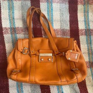authentic Prada bag (orange leather, vintage)